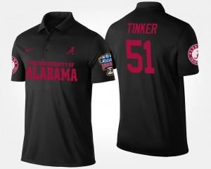 Alabama Crimson Tide Carson Tinker Polo #51 Bowl Game Black Sugar Bowl Men's