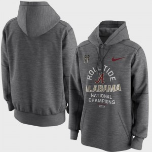 Alabama Crimson Tide Hoodie Men's Charcoal Bowl Game College Football Playoff 2017 National Champions Celebration Victory