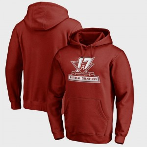 Alabama Crimson Tide Hoodie For Men Bowl Game Crimson College Football Playoff 2017 National Champions Official