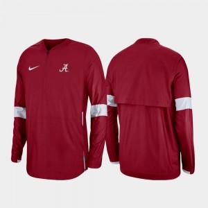 Alabama Crimson Tide Jacket Crimson Quarter-Zip Men 2019 Coaches Sideline