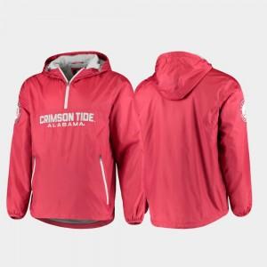 Alabama Crimson Tide Jacket Half-Zip Crimson Base Runner For Men's