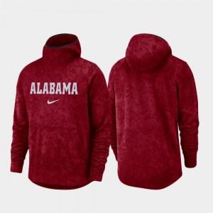 Alabama Crimson Tide Hoodie For Men's Spotlight Basketball Team Logo Pullover Crimson