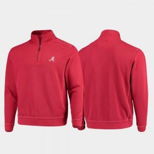 Alabama Crimson Tide Jacket For Men's College Sport Nassau Half-Zip Pullover Tommy Bahama Crimson