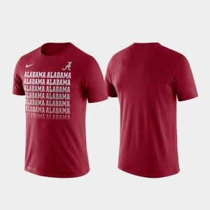 Alabama Crimson Tide T-Shirt Fade Crimson Performance Men