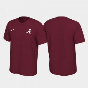 Alabama Crimson Tide T-Shirt Crimson Legend For Men's Left Chest Logo