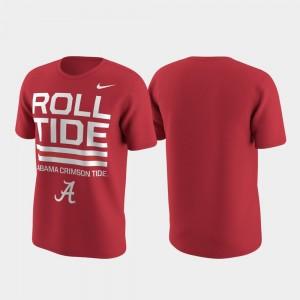 Alabama Crimson Tide T-Shirt Local Verbiage Crimson Performance Men's