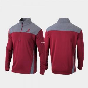 Alabama Crimson Tide Jacket Crimson Omni-Wick Standard Quarter-Zip Pullover For Men's