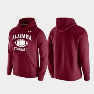 Alabama Crimson Tide Hoodie Club Fleece For Men Crimson Retro Football