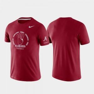 Alabama Crimson Tide T-Shirt Mens Rivalry Crimson Tri-Blend Performance