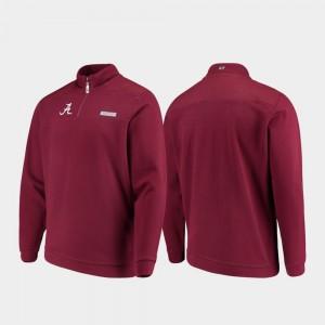 Alabama Crimson Tide Jacket Shep Shirt Crimson Men Quarter-Zip