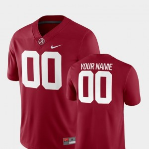Alabama Crimson Tide Custom Jersey 2018 Game #00 Men Crimson College Football