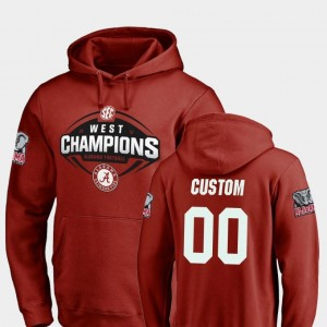 Alabama Crimson Tide Customized Hoodie #00 2018 SEC West Division Champions Football Crimson Men's