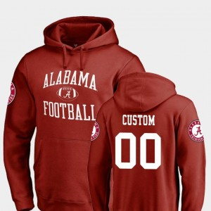 Alabama Crimson Tide Customized Hoodies Neutral Zone For Men #00 College Football Crimson