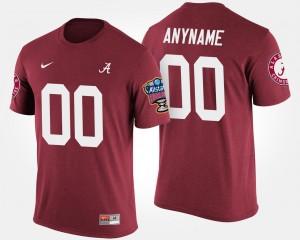 Alabama Crimson Tide Custom T-Shirts Crimson #00 Bowl Game For Men Sugar Bowl