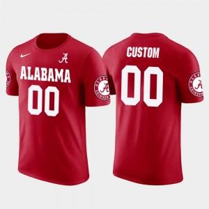 Alabama Crimson Tide Customized T-Shirts Red #00 Cotton Football Men's Future Stars