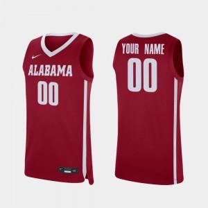 Alabama Crimson Tide Customized Jersey For Men College Basketball #00 Replica Crimson