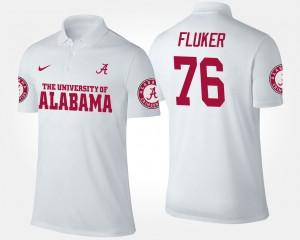 Alabama Crimson Tide D.J. Fluker Polo #76 Mens White
