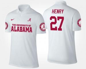 Alabama Crimson Tide Derrick Henry Polo White For Men #27