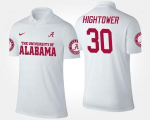 Alabama Crimson Tide Dont'a Hightower Polo White #30 Men's