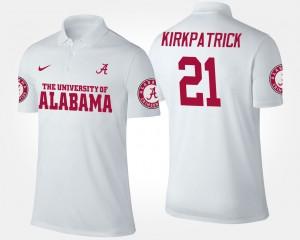 Alabama Crimson Tide Dre Kirkpatrick Polo White For Men's #21