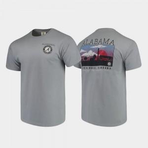 Alabama Crimson Tide T-Shirt Comfort Colors Campus Scenery For Men's Gray