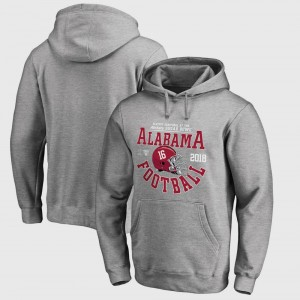 Alabama Crimson Tide Hoodie Gray College Football Playoff 2018 Sugar Bowl Bound Down Bowl Game Mens
