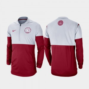 Alabama Crimson Tide Jacket For Men Rivalry Football Half-Zip Gray Crimson