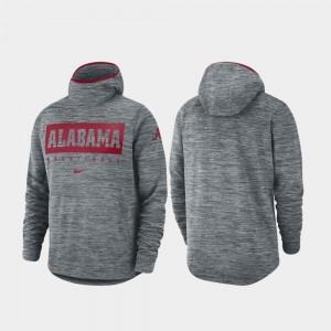 Alabama Crimson Tide Hoodie Spotlight For Men Gray Basketball