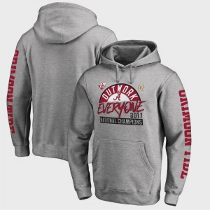 Alabama Crimson Tide Hoodie Men College Football Playoff 2017 National Champions Motion Heather Gray Bowl Game