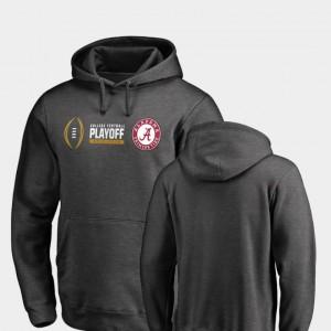 Alabama Crimson Tide Hoodie For Men's Heather Gray 2018 College Football Playoff Bound Cadence
