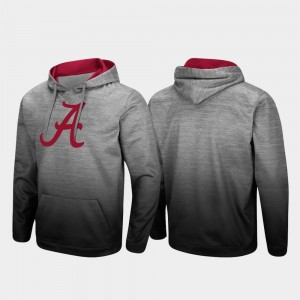 Alabama Crimson Tide Hoodie Heathered Gray For Men Pullover Sitwell Sublimated