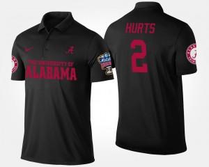Alabama Crimson Tide Jalen Hurts Polo Bowl Game Black Sugar Bowl Men #2