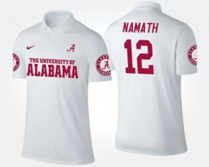 Alabama Crimson Tide Joe Namath Polo Mens White #12