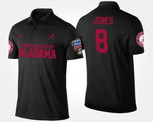 Alabama Crimson Tide Julio Jones Polo #8 Bowl Game Black Sugar Bowl For Men's