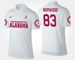 Alabama Crimson Tide Kevin Norwood Polo #83 White Mens