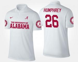 Alabama Crimson Tide Marlon Humphrey Polo Men's #26 White