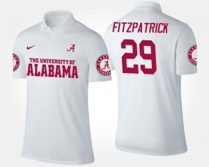 Alabama Crimson Tide Minkah Fitzpatrick Polo White #29 Men's