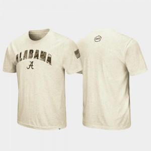 Alabama Crimson Tide T-Shirt Desert Camo OHT Military Appreciation Men Oatmeal