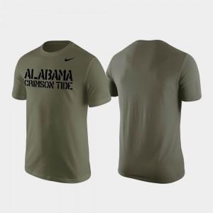 Alabama Crimson Tide T-Shirt Olive Stencil Wordmark Mens