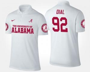 Alabama Crimson Tide Quinton Dial Polo #92 For Men's White