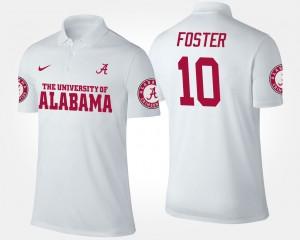 Alabama Crimson Tide Reuben Foster Polo #10 Mens White