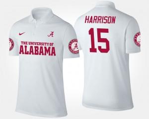 Alabama Crimson Tide Ronnie Harrison Polo Mens White #15