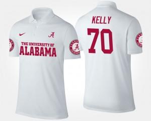 Alabama Crimson Tide Ryan Kelly Polo White #70 For Men