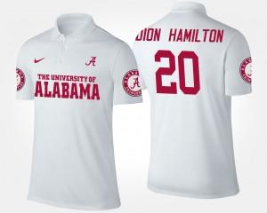 Alabama Crimson Tide Shaun Dion Hamilton Polo For Men's #20 White