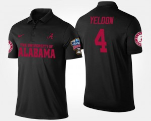 Alabama Crimson Tide T.J. Yeldon Polo Black Mens Bowl Game Sugar Bowl #4
