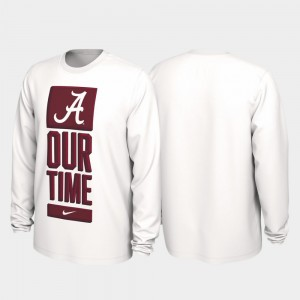 Alabama Crimson Tide T-Shirt Our Time Bench Legend 2020 March Madness For Men's White
