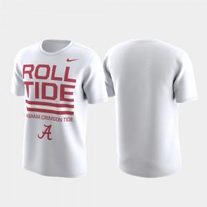 Alabama Crimson Tide T-Shirt Local Verbiage White Performance Men