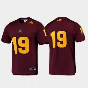 Arizona State Sun Devils Jersey #19 Men's Maroon Replica Football