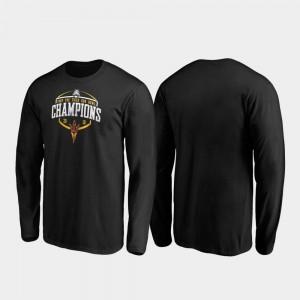 Arizona State Sun Devils T-Shirt Men Corner Long Sleeve 2019 Sun Bowl Champions Black