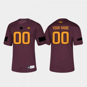 Arizona State Sun Devils Customized Jerseys #00 College Football For Men's Maroon